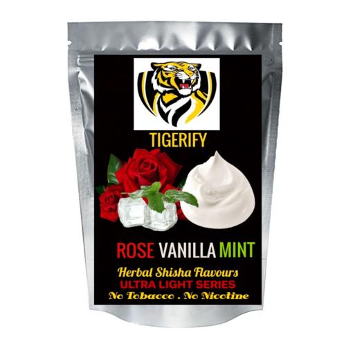 TIGERIFY Ultra Light Shisha Hookah Herbal ROSE VANILLA MINT Flavour 50grams 1