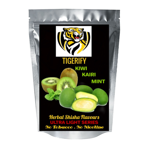 TIGERIFY Ultra Light Shisha Hookah Herbal KIWI KAIRI MINT Flavour 50grams 1