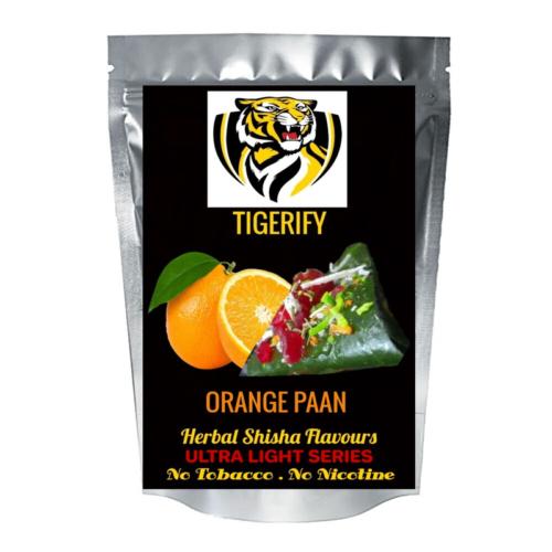 TIGERIFY Ultra Light Shisha Hookah Herbal ORANGE PAAN Flavour 50grams 1