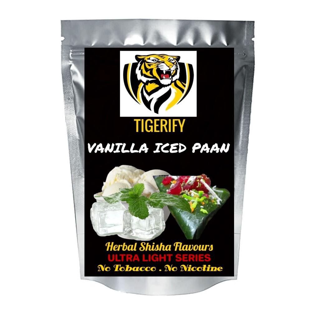 TIGERIFY Ultra Light Shisha Hookah Herbal VANILLA ICED PAAN Flavour 50grams