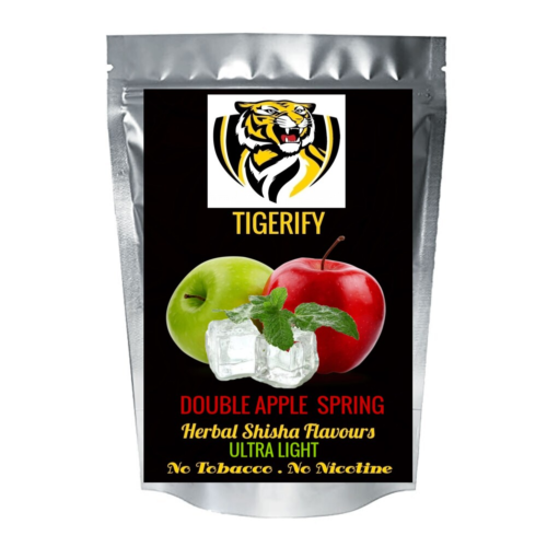 TIGERIFY Ultra Light Shisha Hookah Herbal DOUBLE APPLE SPRING (COOL) Flavour 50grams